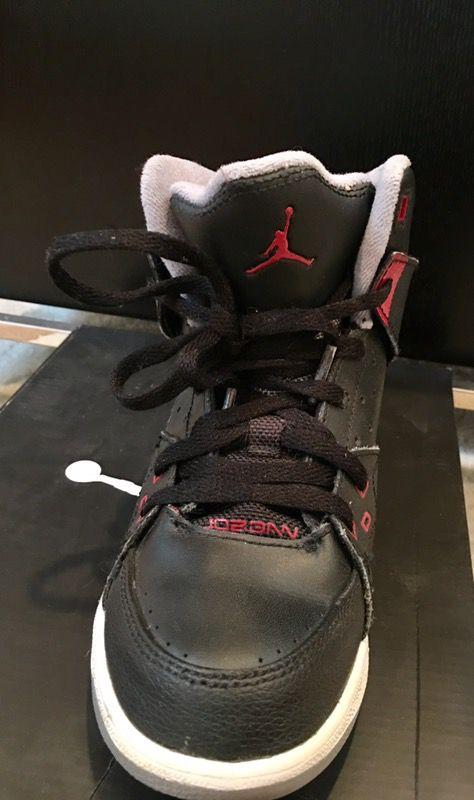Nike Air Jordan Black/Gym Red/Stealth Kids Sc-1 (Ps) size 2Y