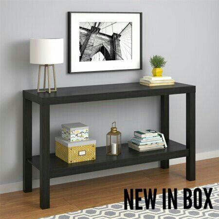 MAINSTAYS PARSONS CONSOLE TABLE BLACKNEW IN BOX Furniture in Las