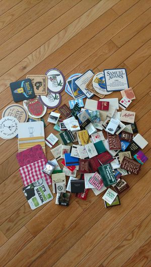 Huge lot of assorted matchbooks and coasters