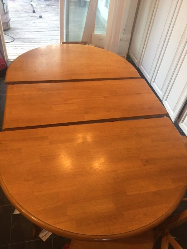 maple kitchen table seats 6 furniture in kent wa offerup