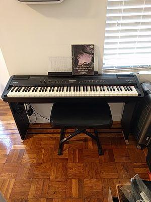 Roland FP-7F Digital Piano, Gator Gig Bag, Stool, Pedal