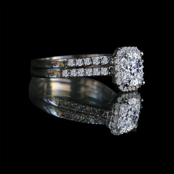150 Ct Center Halo Settings Simulate Diamond Engagement Sterling