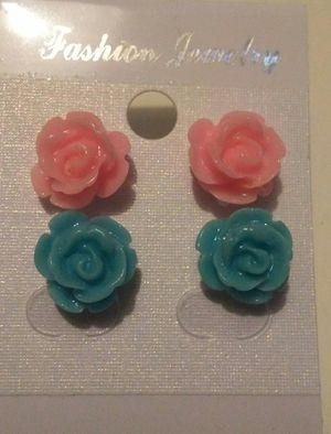 Rose Stud Earring Set