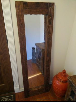 "New solid wood frame mirror in very good condition, pet free somke free L18.5""*W58"""