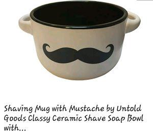 Mustache shave bowl, mug