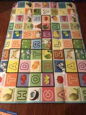 GMS 180*120*0.5cm Double Sides Baby Kids Toddler Crawl Mat Playing Carpet Playmat Picnic Blanket (Farm & Fruit Alphabet)