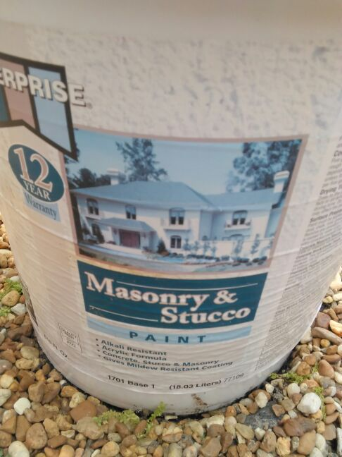 Exterior masonry &stucco paint Household in