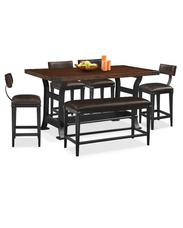 COUNTER HEIGHT 6 PIECE DINING ROOM SET