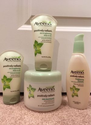 Aveeno Positively Radiant facial cleansers