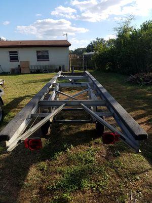 Pontoon trailer