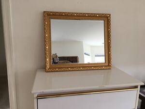 Golden frame large mirror