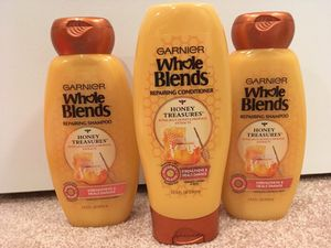 Set of 3 Garnier Whole Blends shampoo and conditioner