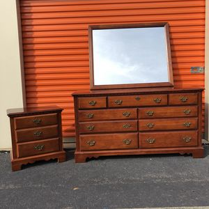 Broyhill Dresser and Nightstand.