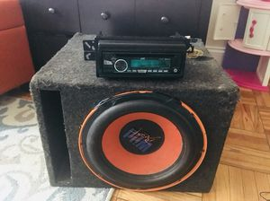 Bluetooth stereo with X/M radio great quality USB and Aux cord compatibility along with a Subwoofer (All you need is an amp) ***Issa Steal***