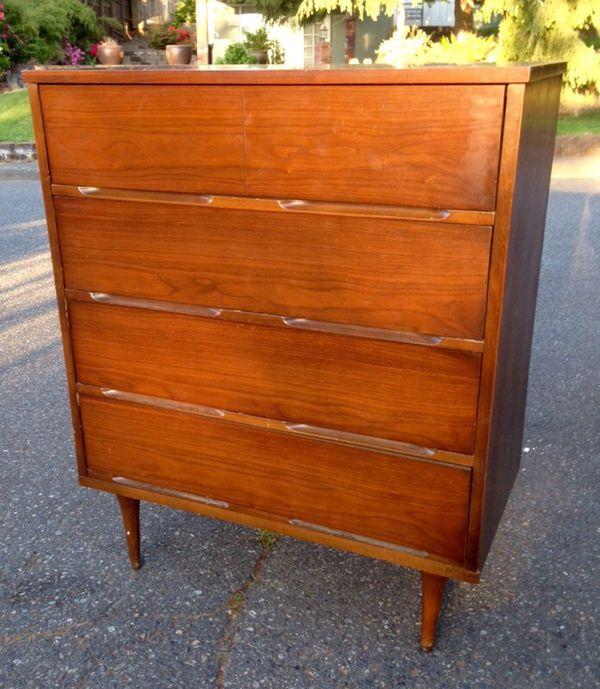 Solid wood mid century modern dresser furniture in for Furniture lynnwood washington