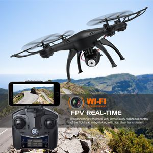 WiFi FPV Drone, Wireless 2.4Ghz RC Quadcopter RTF Altitude Hold with Newest Hover, 720P HD Camera ,3D Flips Function, One-Key Taking-off/Landing