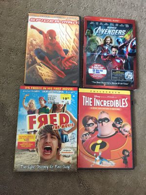 Dvd Movies, Spider-man, the incredibles ect .....