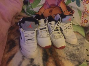 Two pairs of retro shoes 11 size 8.5 other JORDAN are size 8 I sell them to 150