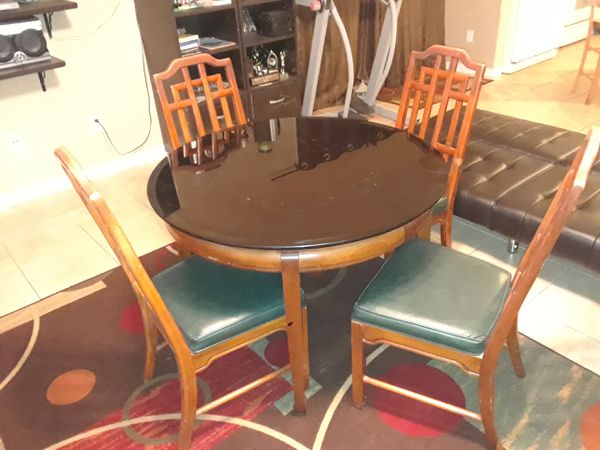 Dining Room Set Dinette 4 Chairs Table With Glass Top Or Wood And Tables Solid Oak Furniture In Daytona Beach FL