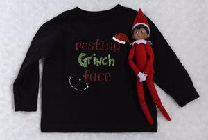 Resting Grinch Face Toddler Shirt