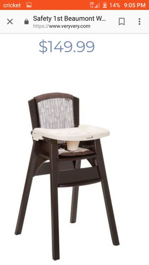 Safety 1st wood hight chair