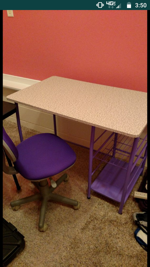 Desk, chair and mat for chair