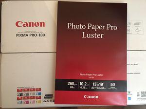 Canon pro-100 printer and free paper