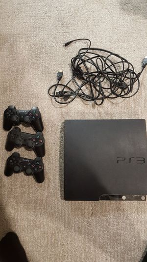 PS3 Slim with 3 controllers