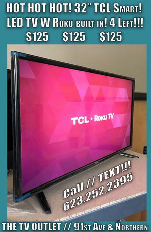 TCL 32 in 720P Smart W/ Built in ROKU! 32S3750 - SUPER LOW PRICE!!