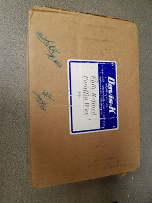 3 pounds fully refined paraffin wax unopened package new in box
