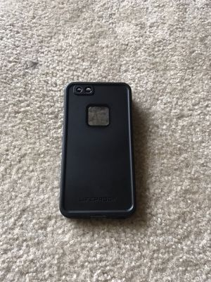 Iphone 6 plus and 6s plus lifeproof fre black