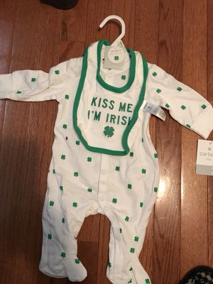 """""""Kiss Me I'm Irish"""" Outfit Size 3 Months"""