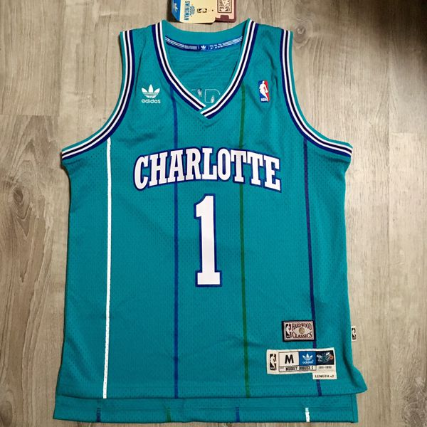 c2784f254 Adidas Charlotte Hornets Mugsy Bogues Hardwood Classics Soul Swingman NBA  Jersey (Clothing   Shoes) in Ithaca
