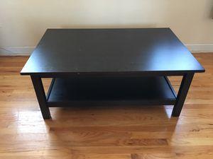 IKEA Dark Espresso Coffe Table with bottom self