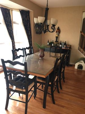 Kitchen table, chairs, matching buffet