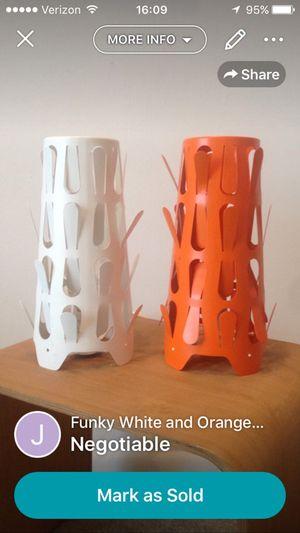 White & Orange Lamps