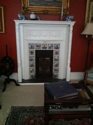 Antique Faux Fireplace