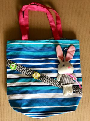 Brand new white bunny lightweight cute tote bag