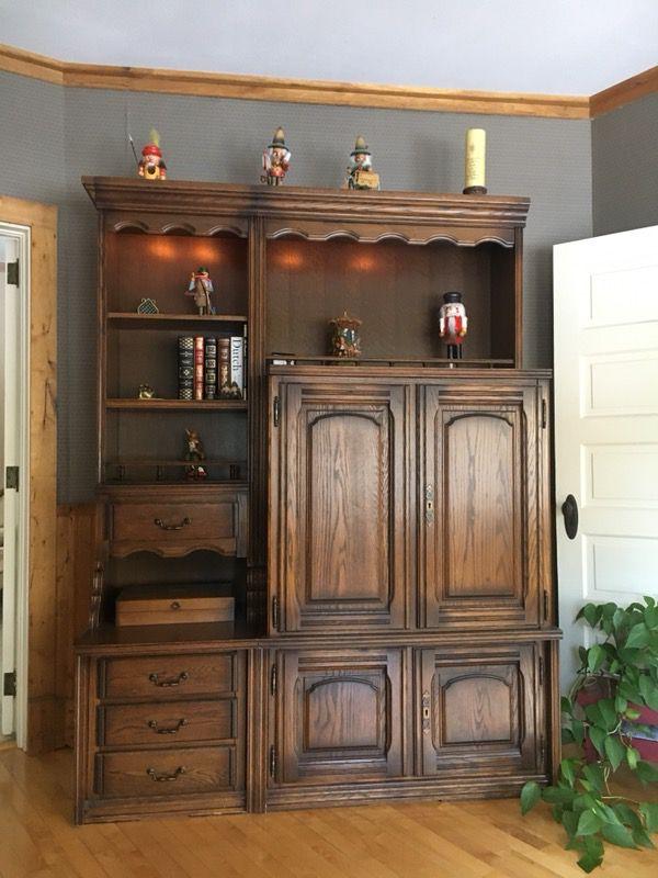 German Schrank (cabinet). Comes in 8 pieces,4ea base & top. Includes ...