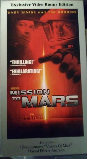 """Mission to Mars """"VCR/VHS Movie"""""""
