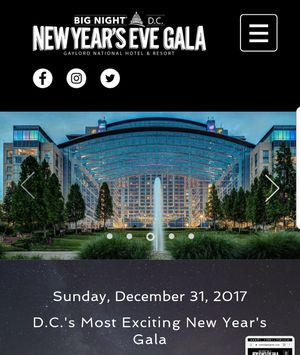 1 VIP Tickets to Big Night DC Gaylord National Resort New Years Eve includes unlimited food and open bar
