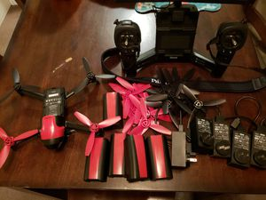 Parrot Bebop 2 drone with sky remote backpack and extras