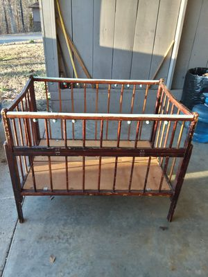 Extremely rare antique 40's era wooden Abbott brand baby crib playpen for sale  Bella Vista, AR