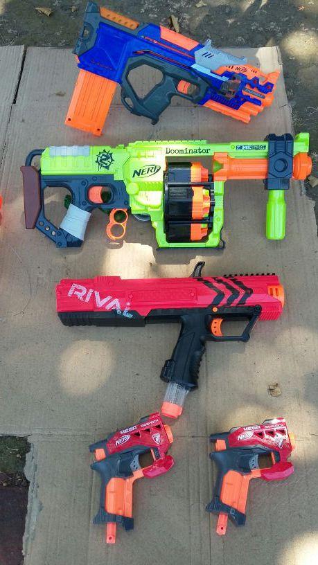 LIKE NEW Nerf Guns $75 for all