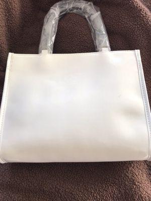Neiman Marcus white patent bag New