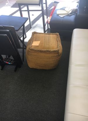 Square ottoman pouf was $250