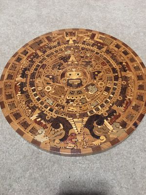 Wooden Aztec Calendar