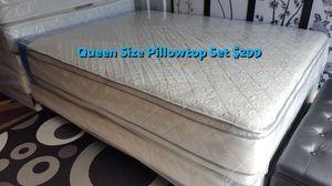 New Queen Size Pillowtop Mattress +Box Spring