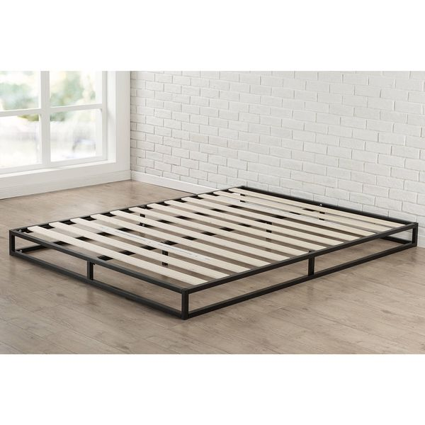 Zinus Modern Studio 6 Inch Platform Low Profile Queen Bed Frame ...
