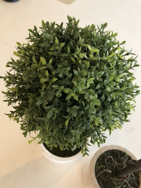 2 piece potted round faux greenery decor vintage home decoration ...